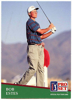 Bob Estes #102 PGA Tour Golf 1991 Pro Set Trade Card (C321)
