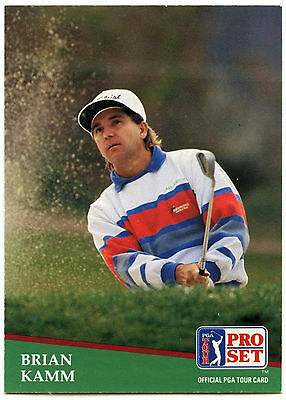 Brian Kamm #34 PGA Tour Golf 1991 Pro Set Trade Card (C321)