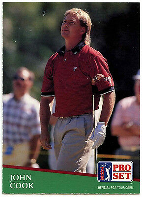 John Cook #44 PGA Tour Golf 1991 Pro Set Trade Card (C321)