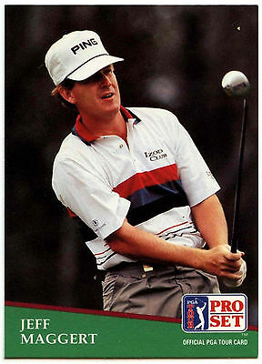Jeff Maggert #57 PGA Tour Golf 1991 Pro Set Trade Card (C321)