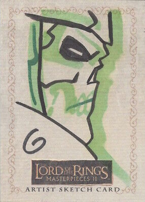2008 LORD OF THE RINGS MASTERPIECES 11 - SKETCH by GRANT GOULD Army of the Dead