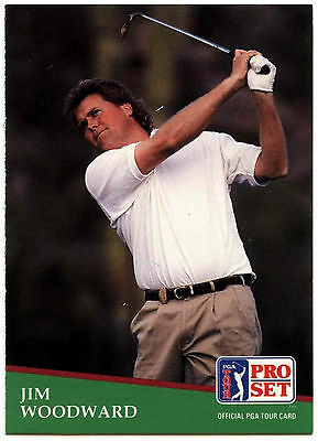 Jim Woodward #178 PGA Tour Golf 1991 Pro Set Trade Card (C321)
