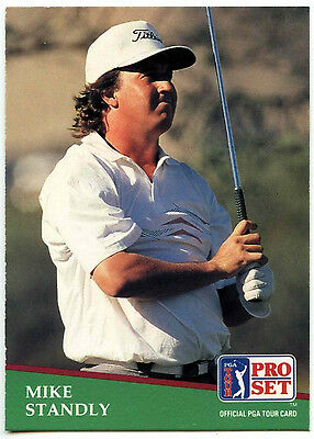 Mike Standly #162 PGA Tour Golf 1991 Pro Set Trade Card (C321)
