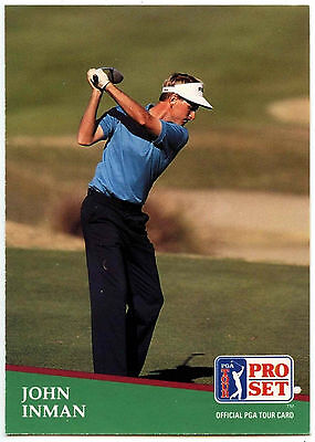 John Inman #20 PGA Tour Golf 1991 Pro Set Trade Card (C321)