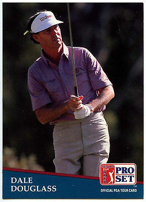 Dale Douglass #202 PGA Tour Golf 1991 Pro Set Trade Card (C321)