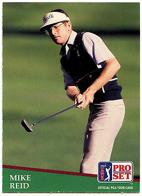 Mike Reid #9 PGA Tour Golf 1991 Pro Set Trade Card (C321)