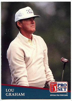 Lou Graham #218 PGA Tour Golf 1991 Pro Set Trade Card (C321)