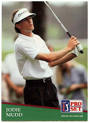 Jodie Mudd #8 PGA Tour Golf 1991 Pro Set Trade Card (C321)