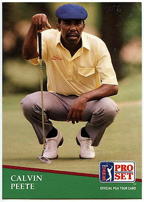 Calvin Pete #49 PGA Tour Golf 1991 Pro Set Trade Card (C321)