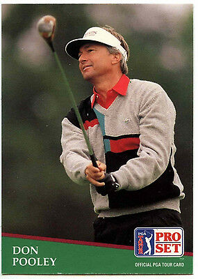 Don Pooley #139 PGA Tour Golf 1991 Pro Set Trade Card (C321)