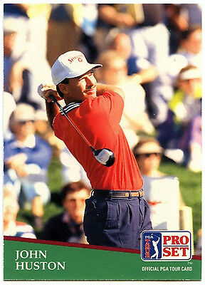 John Huston #19 PGA Tour Golf 1991 Pro Set Trade Card (C321)