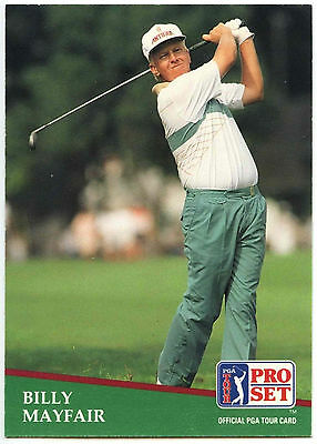 Billy Mayfair #26 PGA Tour Golf 1991 Pro Set Trade Card (C321)