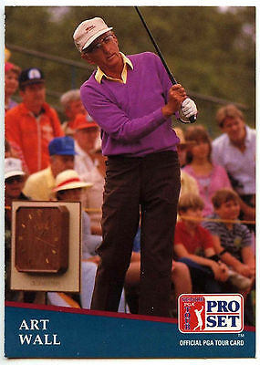 Art Wall #205 PGA Tour Golf 1991 Pro Set Trade Card (C321)