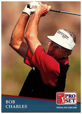 Bob Charles #206 PGA Tour Golf 1991 Pro Set Trade Card (C321)
