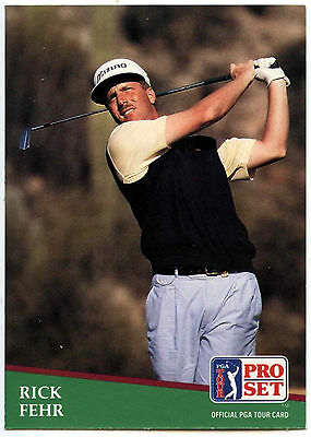 Rick Fehr #33 PGA Tour Golf 1991 Pro Set Trade Card (C321)