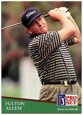 Fulton Allem #183 PGA Tour Golf 1991 Pro Set Trade Card (C321)
