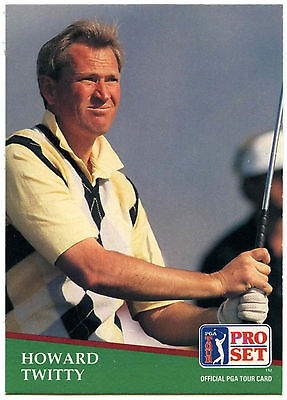 Howard Twitty #182 PGA Tour Golf 1991 Pro Set Trade Card (C321)