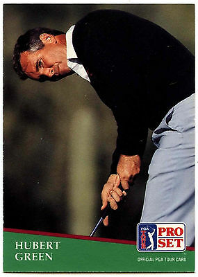 Hubert Green #101 PGA Tour Golf 1991 Pro Set Trade Card (C321)