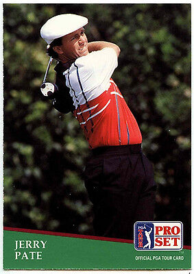 Jerry Pate #100 PGA Tour Golf 1991 Pro Set Trade Card (C321)