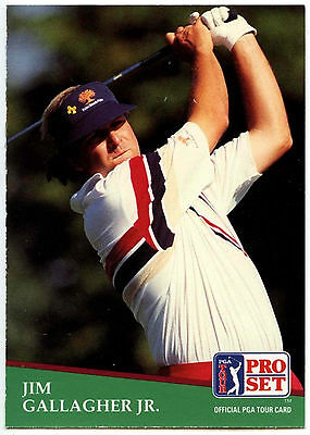 Jim Gallagher Jr. #115 PGA Tour Golf 1991 Pro Set Trade Card (C321)