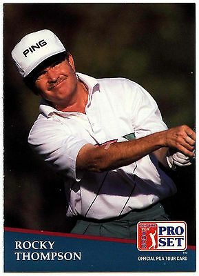 Rocky Thompson #213 PGA Tour Golf 1991 Pro Set Trade Card (C321)