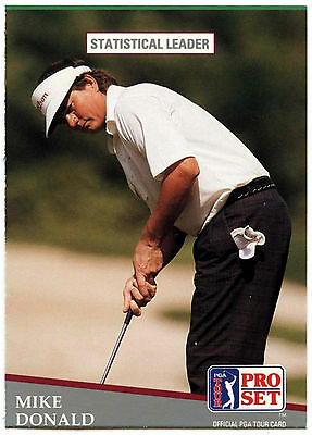 Mike Donald  #275 PGA Tour Golf 1991 Pro Set Trade Card (C321)