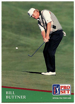 Bill Buttner #186 PGA Tour Golf 1991 Pro Set Trade Card (C321)