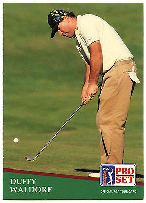 Duffy Waldorf #189 PGA Tour Golf 1991 Pro Set Trade Card (C321)