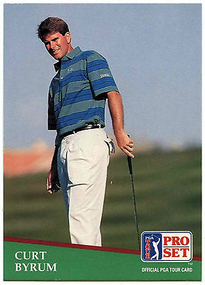 Curt Byrum #147 PGA Tour Golf 1991 Pro Set Trade Card (C321)