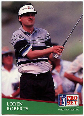 Loren Roberts #149 PGA Tour Golf 1991 Pro Set Trade Card (C321)