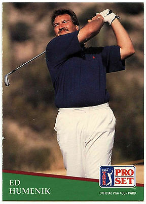 Ed Humenik #175 PGA Tour Golf 1991 Pro Set Trade Card (C321)