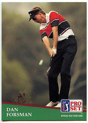 Dan Forsman #158 PGA Tour Golf 1991 Pro Set Trade Card (C321)