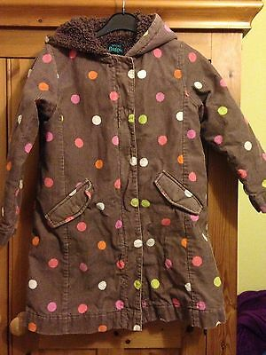 Boden Girls Corduroy Warm Lined Coat Age 7-8