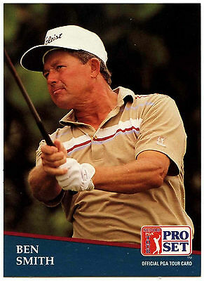 Ben Smith #216 PGA Tour Golf 1991 Pro Set Trade Card (C321)