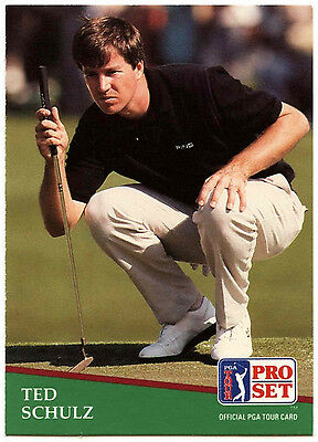 Ted Schulz #156 PGA Tour Golf 1991 Pro Set Trade Card (C321)