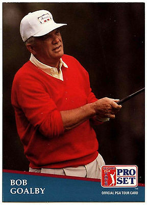 Bob Goalby #241 PGA Tour Golf 1991 Pro Set Trade Card (C321)