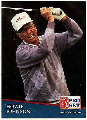 Howie Johnson #253 PGA Tour Golf 1991 Pro Set Trade Card (C321)
