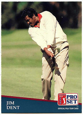 Jim Dent #255 PGA Tour Golf 1991 Pro Set Trade Card (C321)
