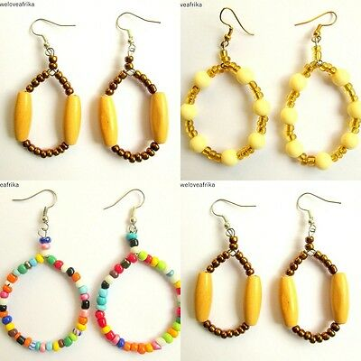 African Masai Tribal Ethnic Earrings, Fairtrade Handmade Holiday Jewellery Gifts