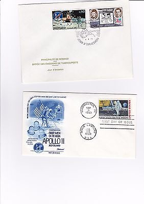 Apollo 11 moon landing 4 x commemorative covers - 16/206