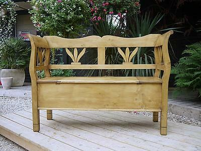 Cute! Old Antique Style Pine Hungarian/monks Box Bench/settle/pew/storage/box