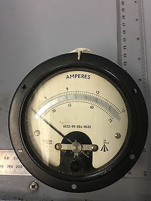 Vintage moving iron ammeter