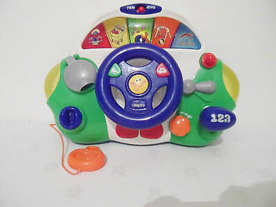 Chicco  Steering  Wheel  With Car Sounds   And  Lights  And Activity