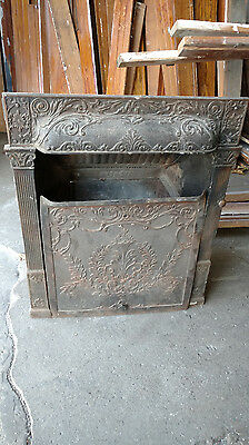 vintage antique cast iron fireplace insert rare by Buckeye, patented 1892
