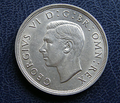 George Vi British Silver Coin 1937 Crown – Very Nice!