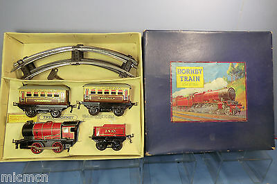 "VINTAGE HORNBY ""0"" No.""M1 "" PASSENGER SET ( OVERPRINTED FRENCH BOX )   VN MIB"