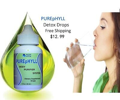 PUREpHYLL BODY PURIFIER SYSTEM Drops Eliminates Toxins Cholesterol Fat Uric Acid