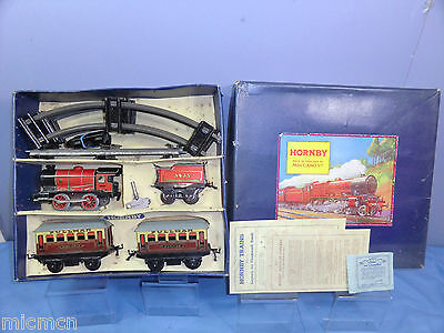 "VINTAGE HORNBY ""0"" GAUGE MODEL No.""M1"" (LMS)   PASSENGER  TRAIN SET VN MIB"