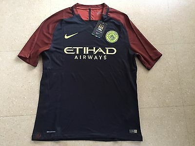 Maillot (shirt) Nike MANCHESTER CITY Away 16-17 AGUERO Version Pro Taille L Neuf