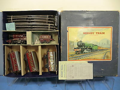 "VINTAGE HORNBY ""0"" MODEL No.501 LMS PASSENGER TRAIN SET VN MIB"